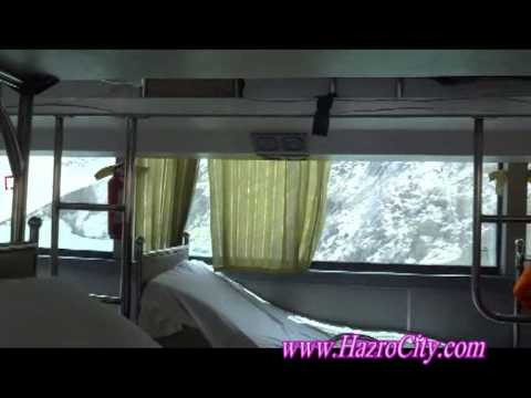Tashkurgan (China) to Sost (Pakistan) by road on Chinese luxury Bus, views of Khunjerab Pass.