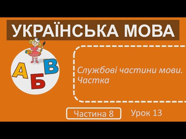 3 клас. Українська мова. Службові частини мови. Частка.