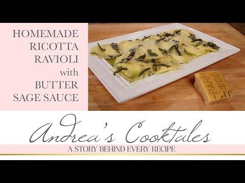 Homemade Ricotta Ravioli with Butter Sage Sauce