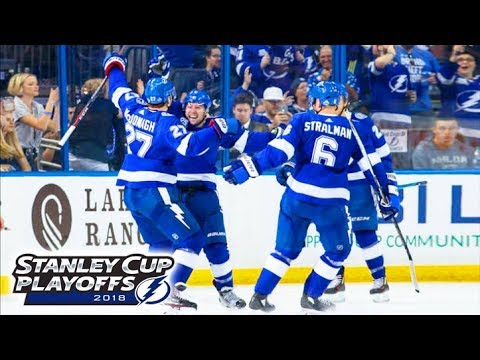 Dave Mishkin calls all 5 Lightning goals from win over Devils (2018 Playoffs, Game 2)