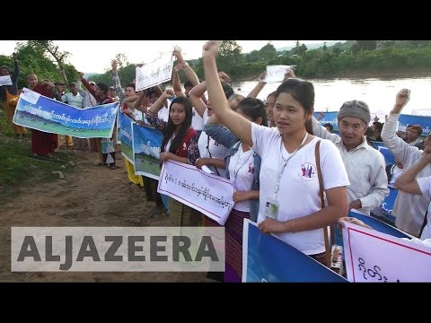 Villagers in Myanmar fight construction of dam