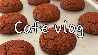 (Cafe vlog) 카페브이로그/배달/레드벨벳쿠키/제…