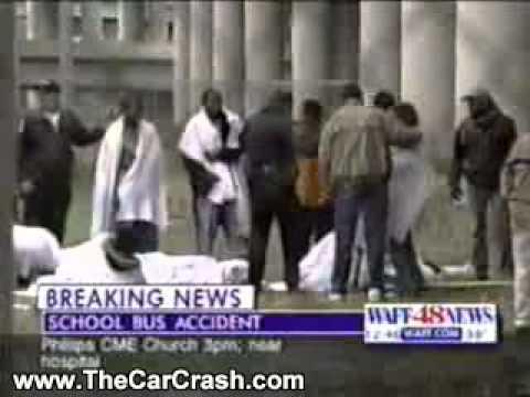 The Car Crash: Terrible School Bus Accident in Huntsville, Alabama
