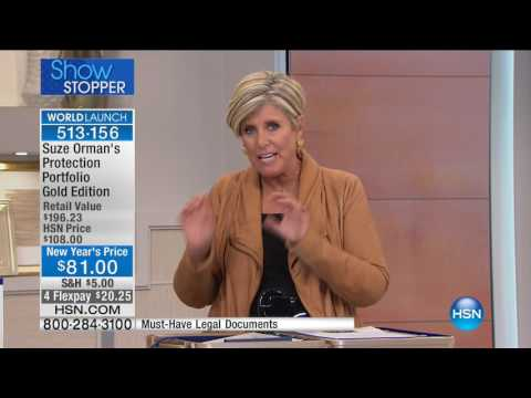 HSN | Suze Orman Financial Solutions for You 01.21.2017 - 01 AM