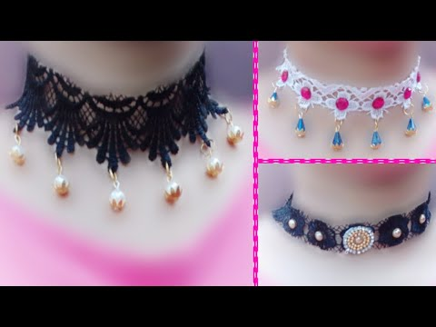 DIY | Amazing Choker Necklace | how to make necklace | Handmade jewelry | Necklace Making Idea