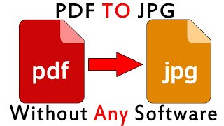 How To Convert PDF To JPG Without Any Software - PDF TO JPG CONVERTER