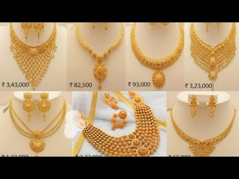 Latest Gold Jewelry design with Price | Latest Bridal Gold Necklace, Bangles and Earrings Designs