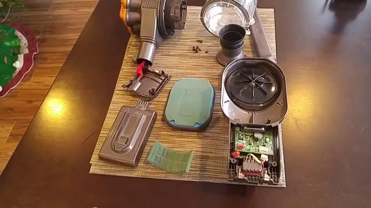 DIY Dyson Handheld Vacuum Red Light Repair