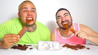 HOTTEST BEEF JERKY IN THE WORLD!!! $500 CASH BET!!! GHOST PEPPER + CAROLINA REAPER