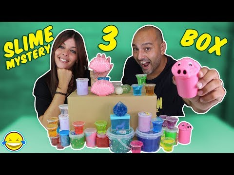SLIME MYSTERY BOX 3 Caja misteriosa Mega Haul de Slimes Unicornio Unboxing de Slimes Jordi y Bego!!