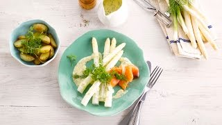 Alpro Recipe – Asparagus In A Creamy Sauce With Smoked Salmon