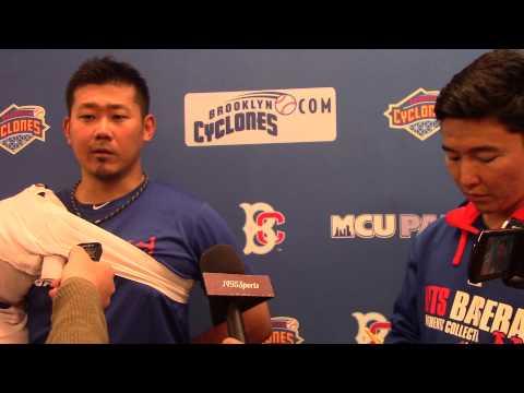 August 21 -- Daisuke Matsuzaka Post-Game