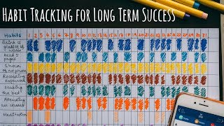 Sticking To Productive Habits For Long Term Success | Habit Tracker Setup + Free Printable