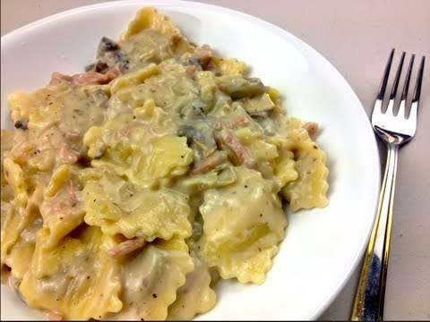 CREAMY RAVIOLI – 5 Minute Meal recipe