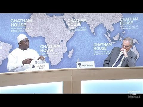 Shaping Gambia's Future - President Adama Barrow: At Chatham House, United Kingdom.