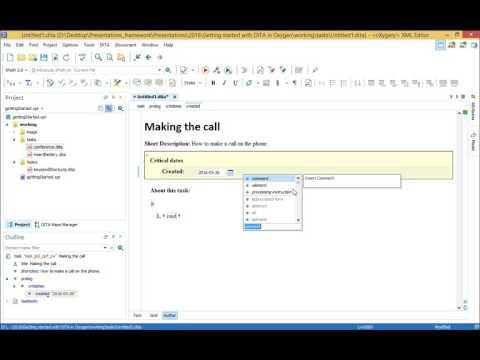 Webinar: Getting started with DITA using oXygen XML Editor