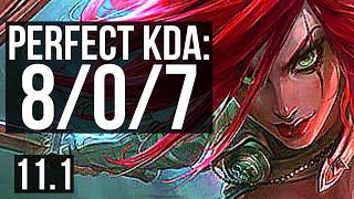 KATARINA vs VEL'KOZ (MID) | 8/0/7, 66% winrate, Legendary | EUW Diamond | v11.1