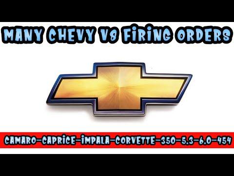 V8 Chevy Chevrolet Firing Order 5.3,350,5.7,6.0,454,camaro,Corvette, Caprice, Impala,tahoe,blazer