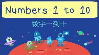 Learn Numbers 1 to 10 in Chinese | 数字一到十 | Basic Mandarin Chinese for Kids