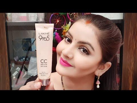 Lakme 9to5 cc cream demo | how to apply cc cream on face | beige | all skintype|LakmeCC cream | RARA