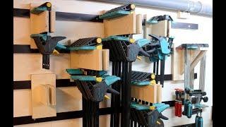 French Cleat Clamp Rack für Einhandzwingen / Platzsparend aufhängen - diy