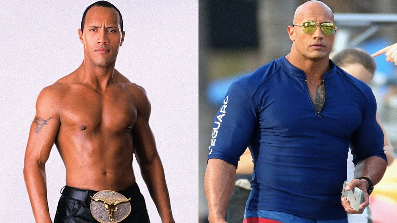 the rock transformation 2018 from 1 to 45 years old