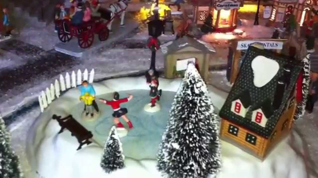 Village miniature de no l 2011 martissou lemax youtube - Village de noel miniature ...