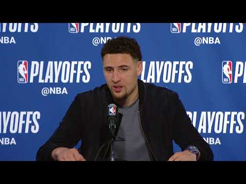 Klay Thompson Postgame Interview | Spurs vs Warriors - Game 5 | April 24, 2018 | 2018 NBA Playoffs