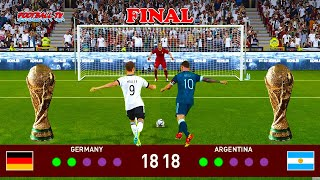 Penalty Shootout Germany vs Argentina Final FIFA World Cup 2022 PES 2021 eFootball