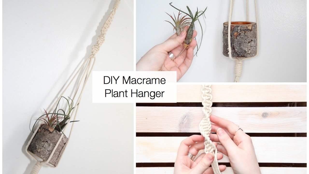How To Make A Macrame Plant Hanger Tutorial For Beginners