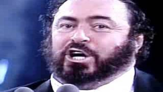 "Luciano Pavarotti ""O Sole Mio"" Three Tenors Rome 1990"