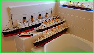 WILL THESE LEGO TITANIC COPYS FLOAT ???