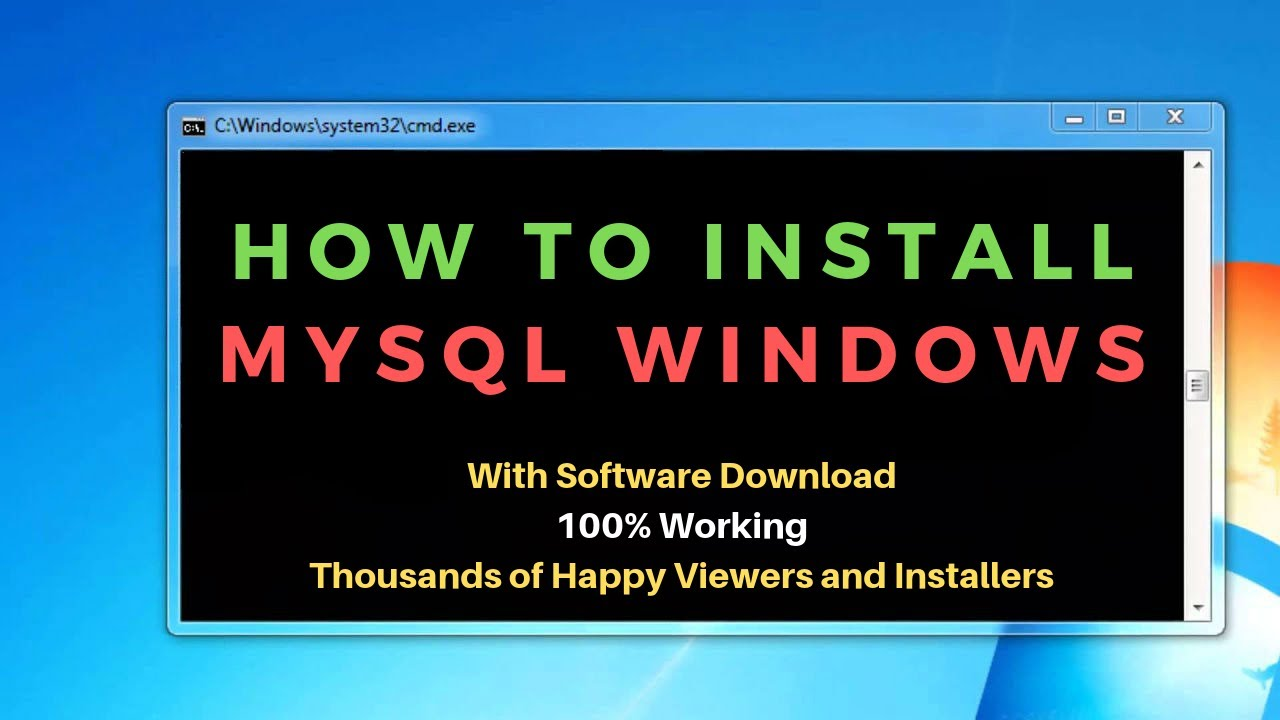 How to install MySQL on windows-MySQL Comand Line Client