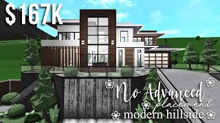 No Advanced Placement Modern Hillside | Roblox Bloxburg | GamingwithV