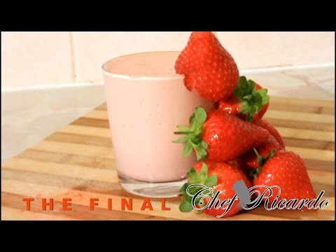 Ice Cream And Strawberry Smoothie | Recipes By Chef Ricardo