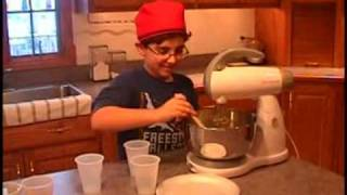 Greek Boy Making Walnut Cake (karithopita)