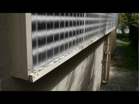 Solar Space Heater- heats air in the house using the sun