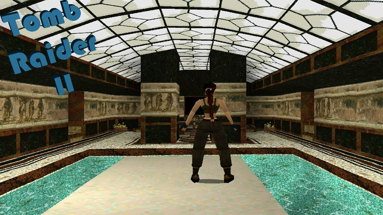 Tomb raider 2 lara 39 s house creepy pixelated butler youtube for Classic house walkthrough