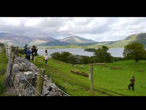 Providence college students 'Walking with Wordsworth' in the Hawkshead area 2015