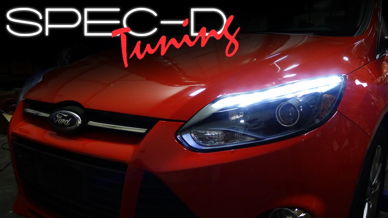 Specdtuning Installation Video 2017 Ford Focus Led Projector Headlights You