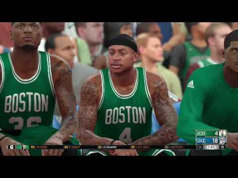 NBA 2K17 Boston Celtics vs Oklahoma City Thunder