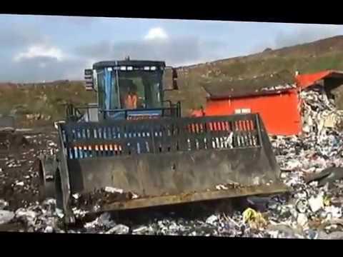Работа уплотнителя отходов Al-jon