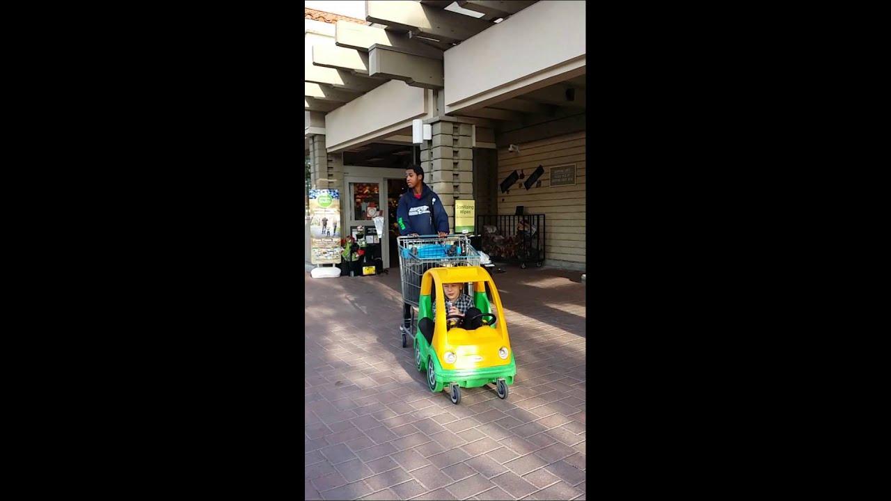 Midget driving car