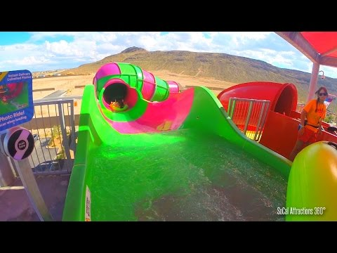 Rattler Water Slide Raft Ride (HD POV) - Wet n Wild Las Vegas Water Park 2015