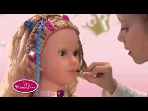 568586691 Hlava na česanie a maľovanie Princess Coralie (Klein) - YouTube
