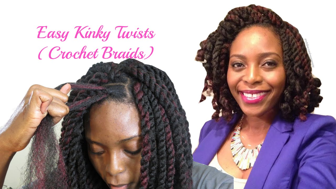 Easiest Kinky Twists Ever: Crochet Braids with Freetress Cuban ...