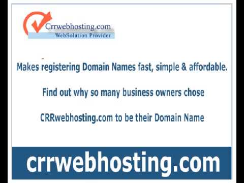 Domain name Registration hyderabad - crrwebhosting.com