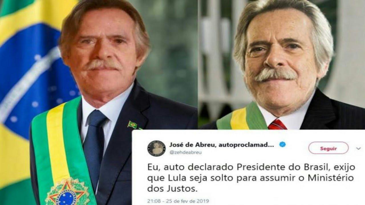 Resultado de imagem para Jose de Abreu se proclama presidente do Brasil e diz imitar Guaidó na Venezuela