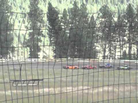 Eagle Track Raceway Street Stock Heat Race Part 1 (Big Crash) Aug 17th 2013
