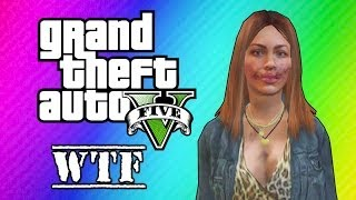 GTA 5 Online: Super Glitchy Lobby - Invincible Lady & Teleportation (GTA 5 Funny Moments)